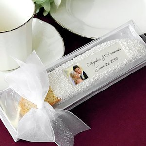 Custom Photo Biscotti Wedding Favor in Gift Box image