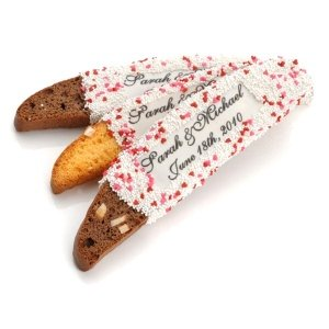 Personalized Wedding Biscotti Favors image
