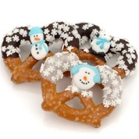 Winter Themed Chocolate & Caramel Pretzels