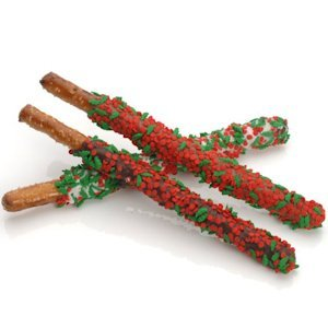 Chocolate Pretzels Rods - Holly & Berry Sprinkles image