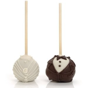 Bride and Groom Wedding Cake Pop Favors image
