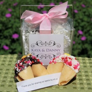 Personalized Wedding Fortune Cookies Take Out Box Favor Image
