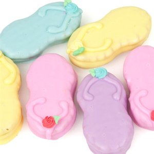 Pastel Dipped Flip Flop Nutter Butter Cookies image