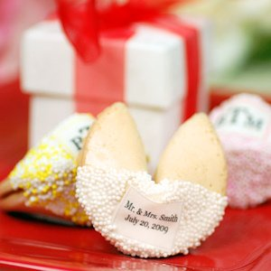 Custom Wedding Fortune Cookie Favors image