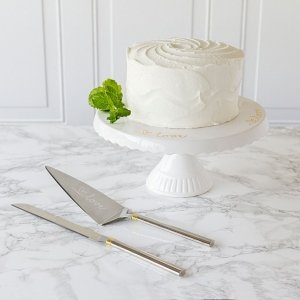 Love Cake Stand and Server Set image