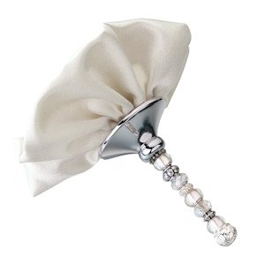 Beaded Bouquet Holder - Ivory or White image