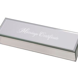 Mirrored Marriage Certificate Box image