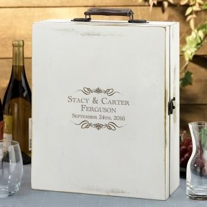 Antique White Wine Box (4 Personalized Options) image