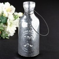 Silver Bottle Tealight Holder