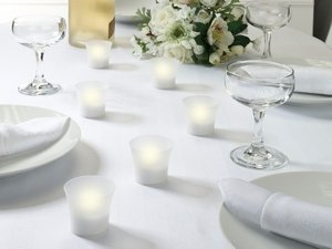 Battery Operated Tealight Votive Candles (Set of 6) image