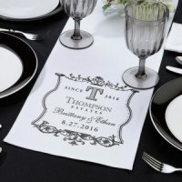 White Canvas Table Runner (5 Design Options)