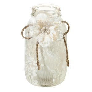 Lace Mason Jar Wraps (Set of 4) image