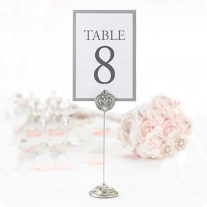 Jeweled Table Card Holders for Weddings (Set of 4) image