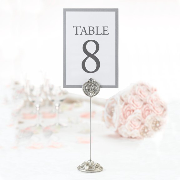 Jeweled table card holders for weddings set of 4 for Table numbers