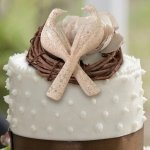 Stone Finish Doves Cake Pick
