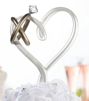Heart with Rings Cake Pick image