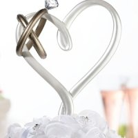 Heart with Rings Cake Pick