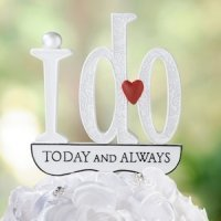 'I Do' Wedding Cake Pick
