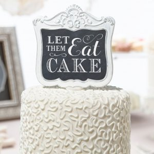 Let Them Eat Cake Decorative Cake Pick image