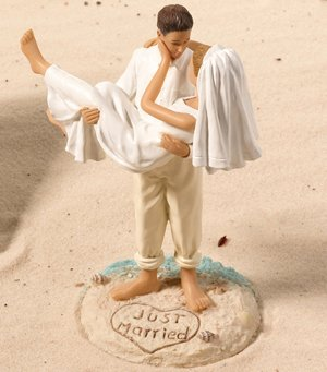 Beach Wedding Figurine - Caucasian image