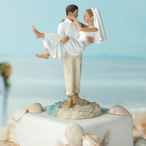 5 Unique Beach Themed Wedding Cake Toppers - Weddings Online