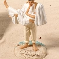 Beach Wedding Figurine - Caucasian
