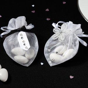 Mini Bride & Groom Wedding Favor Bags (Set of 6) image