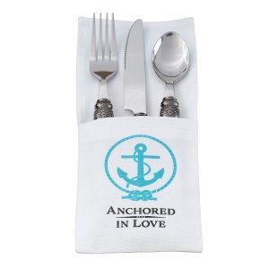 Anchored in Love Silverware Holders image