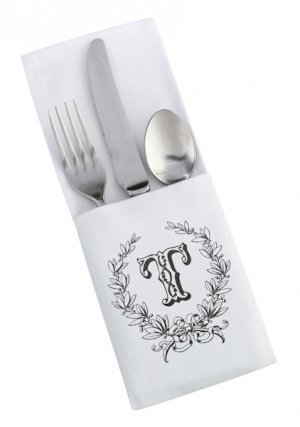 White Silverware Holders (Set of 4 - 4 Designs) image