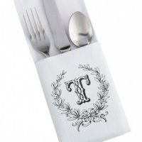 White Silverware Holders (Set of 4 - 4 Designs)