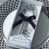Silver Key Bottle Opener Favor