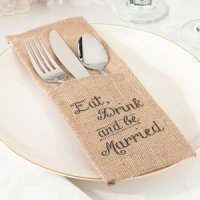 Eat- Drink and Be Married Silverware Holders (Set of 4)