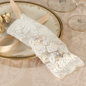 Ivory Lace Favor Bags (Set of 6) image