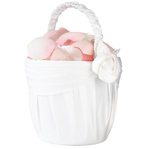 Cream Rose Collection Flowergirl Basket image