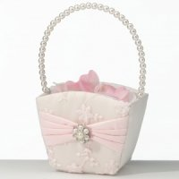 Blush Pink Flower Basket