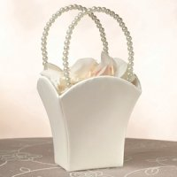 Ivory Simplicity Rectangular Flower Basket