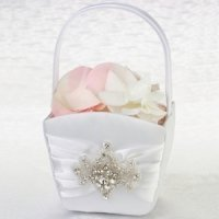 Jeweled Motif Flower Girl Basket