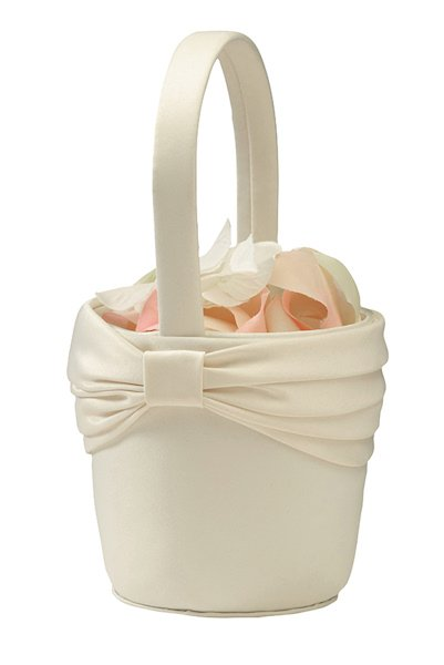 Flower Girl Baskets Ivory Uk : Ivory sash flower girl basket