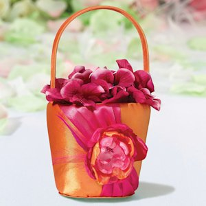 Hot Pink & Orange Flower Girls Basket image