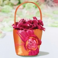 Hot Pink & Orange Flower Girls Basket