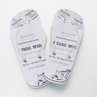 Just Married Honeymoon Bride Flip Flops