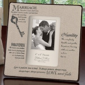 Christian Wedding 4 x 6 Photo Frame image