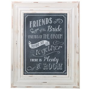 Chalkboard Style Seating Sign image