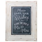 Wishes Framed Chalkboard Style Guest Book Sign