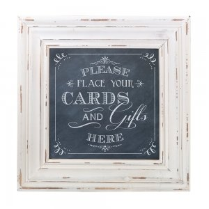 Chalkboard Style Framed Card Table Sign image