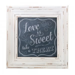 Sweets Table Square Chalkboard Style Framed Sign image