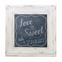 Sweets Table Square Chalkboard Style Framed Sign
