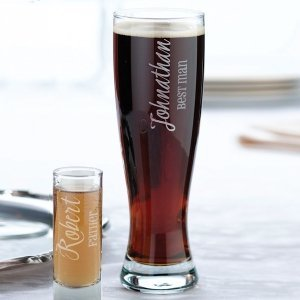 Wedding Party Pilsner Glass (2 Personalized Designs) image