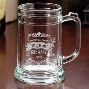 Set of 2 Beer Mugs (2 Personalized Design Options) image