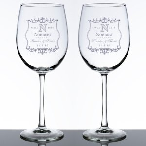 Wedding Wine Glass Set (5 Personalized Design Options) image